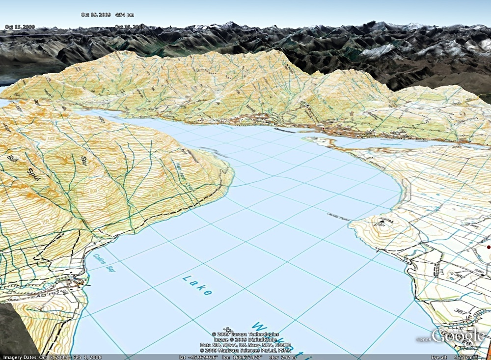 Topo50 and Topo250 NZTM Topogrphical Maps in MapToaster Topo